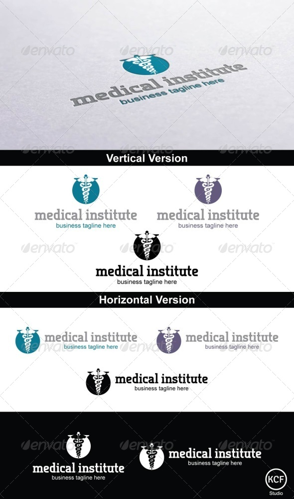 GraphicRiver Medical Institute Logo Design 4140103