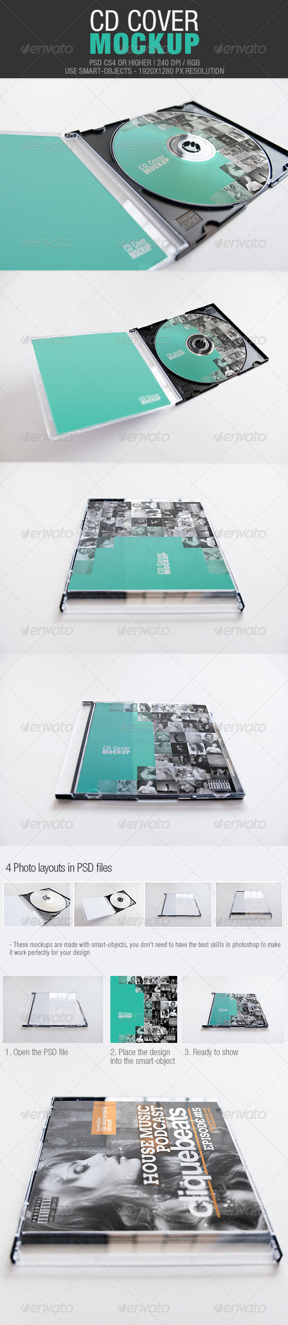 GraphicRiver CD Cover Mockup 4244724