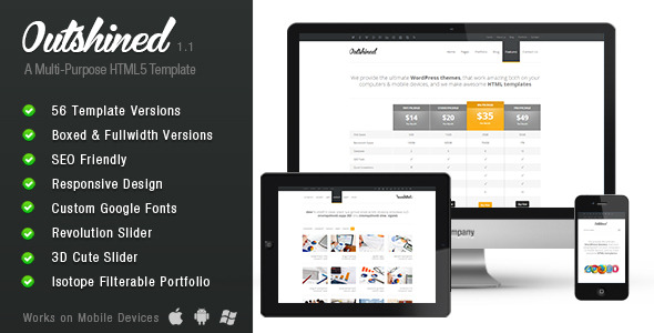 Outshined - Responsive HTML5 Template