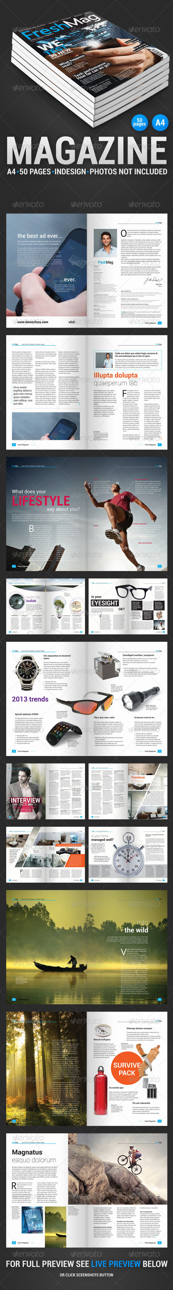 GraphicRiver FreshMag 50 pages magazine 4245093