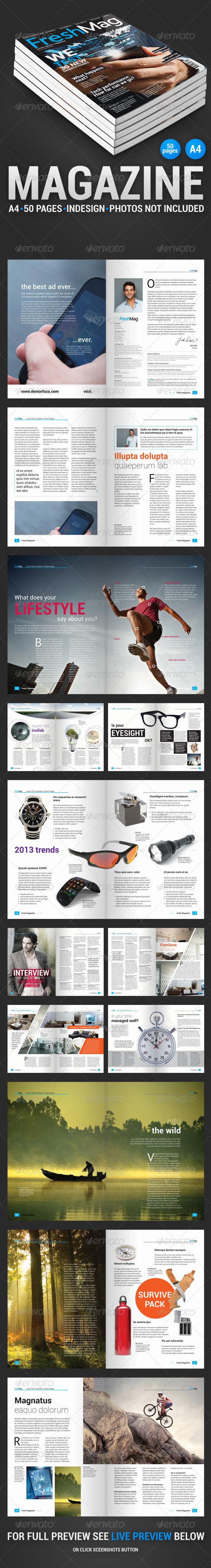 GraphicRiver FreshMag 50 Page Magazine 4245093