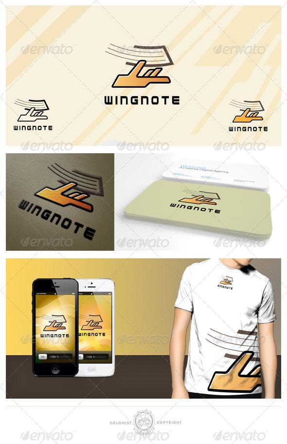 GraphicRiver Wingnote Logo 4148489