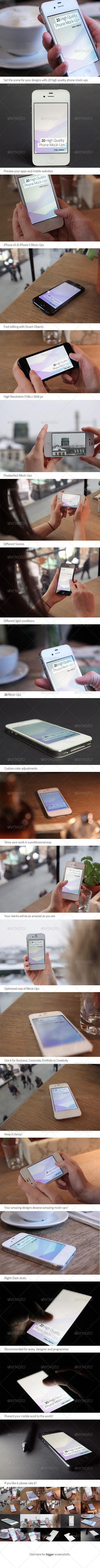 GraphicRiver 20 High Quality Phone Mock-Ups 4245823