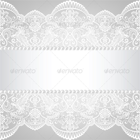 GraphicRiver Pearl Frame and Lace Background 4245881