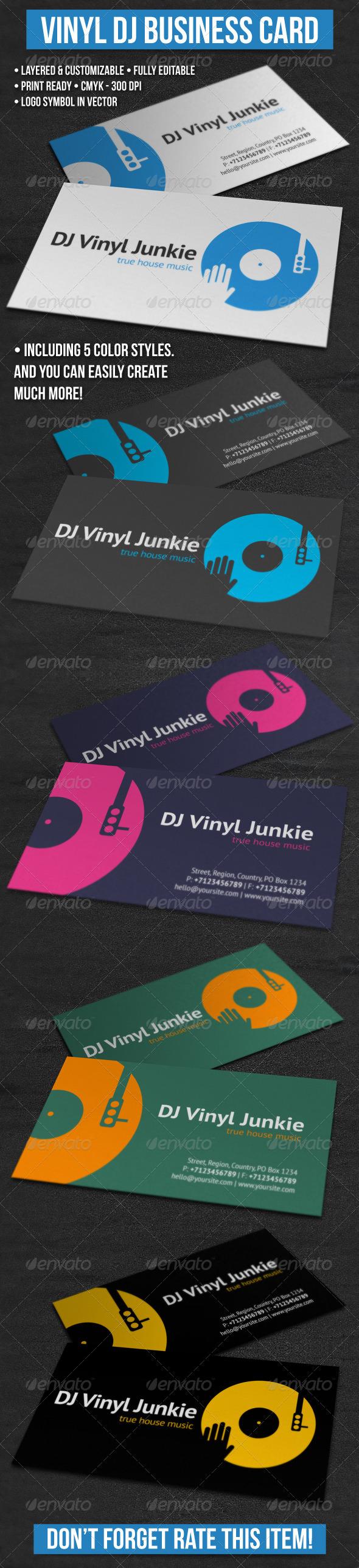GraphicRiver Vinyl DJ Business Card 4246081