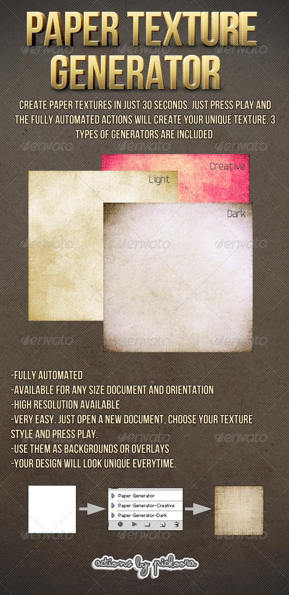 GraphicRiver Paper Texture Generator 460176