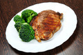 Grilled meat with broccoli - PhotoDune Item for Sale