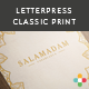 5 Multipurpose Mock Up -3- Letterpress &amp;amp; Classic - GraphicRiver Item for Sale