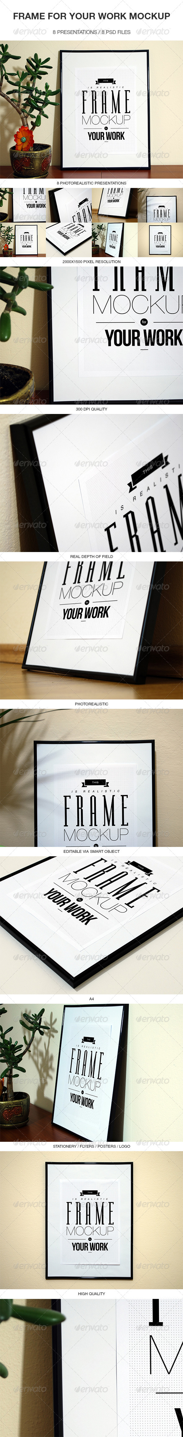 Frame For Your Work Mock-up - Print Product Mock-Ups