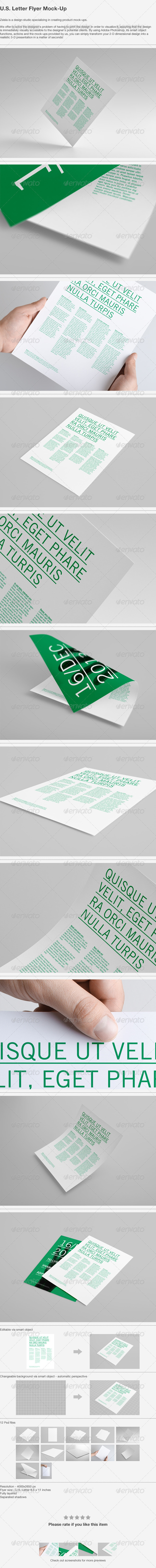 U.S. Letter Flyer Mock-Up - Print Product Mock-Ups