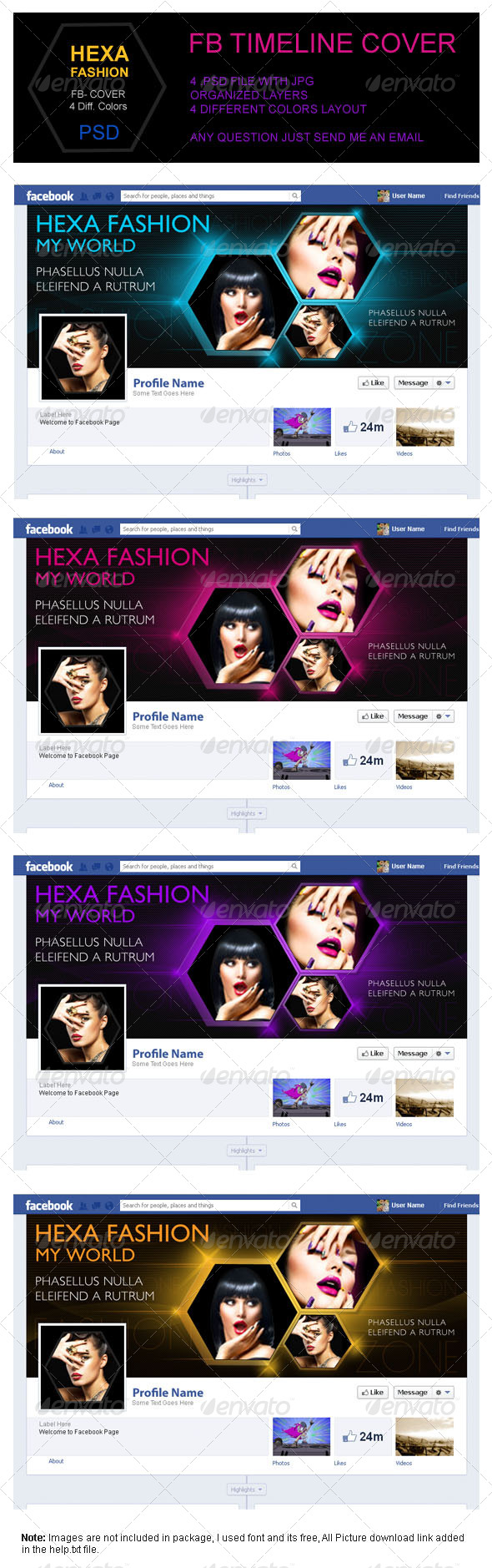GraphicRiver Hexa Fashion FB Timeline Cover 4176539