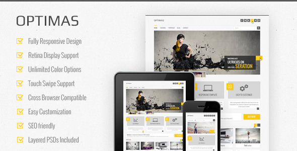 Optimas  - Responsive Multipurpose Template - Corporate Site Templates