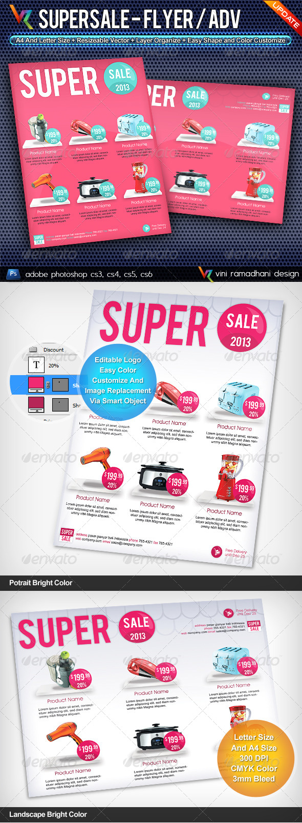 Super Sale Flyer Or Advertising - Commerce Flyers