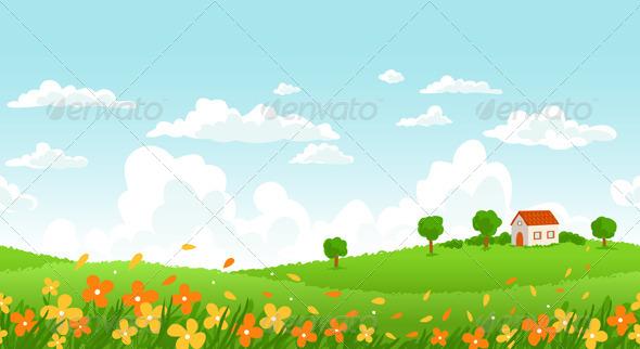 GraphicRiver Sunny Day Landscape 4251251