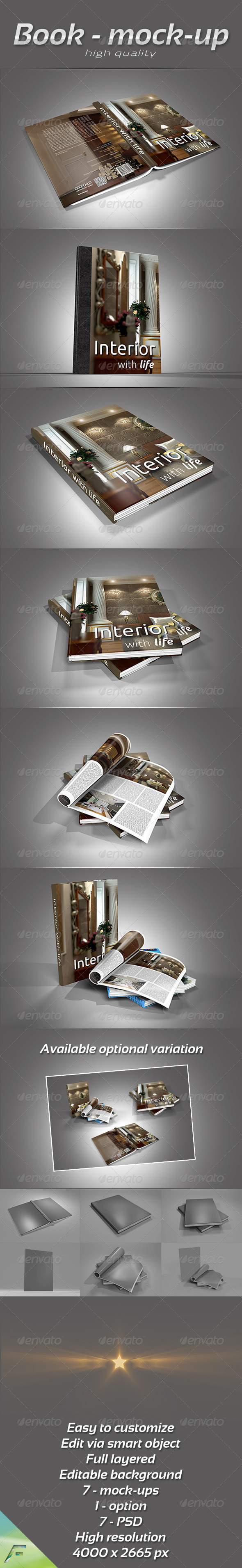 GraphicRiver Book Collection Mock-Up 4165472