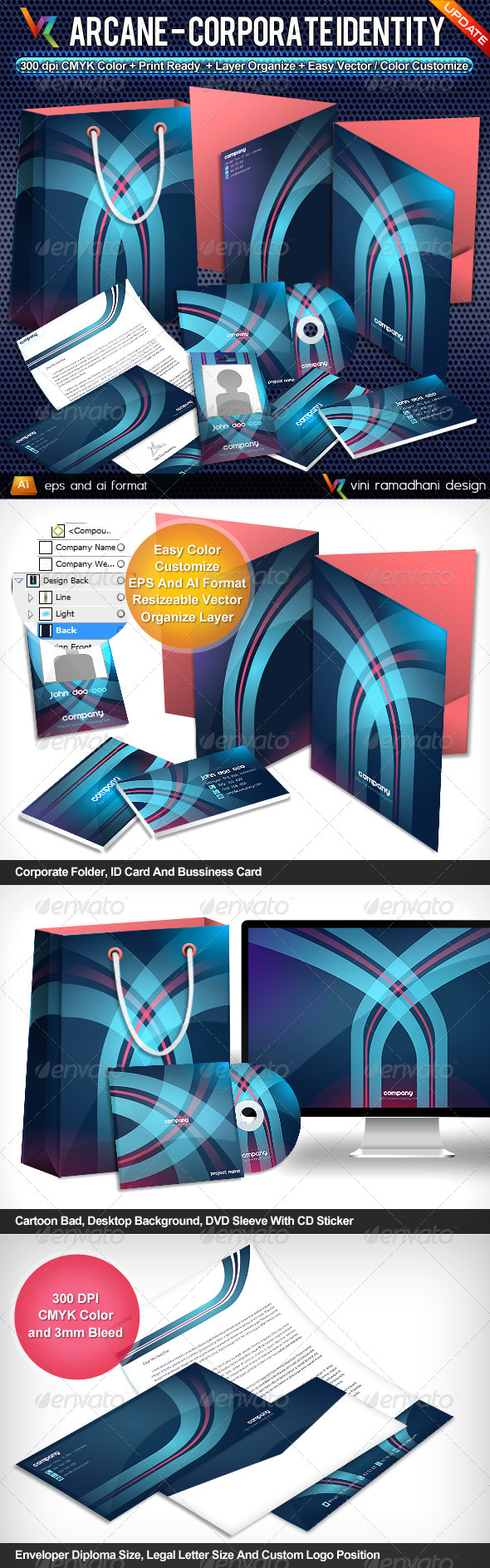 Arcane Corporate Identity - Stationery Print Templates