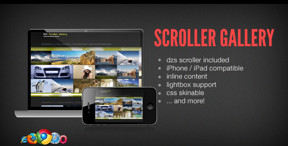 CodeCanyon DZS Scroller Gallery cool jQuery media gallery 457913