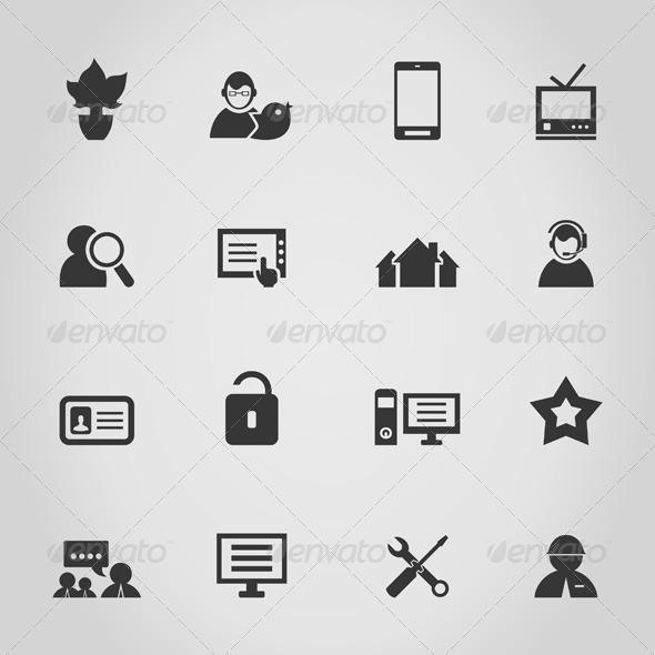GraphicRiver Icon the Internet 4251678