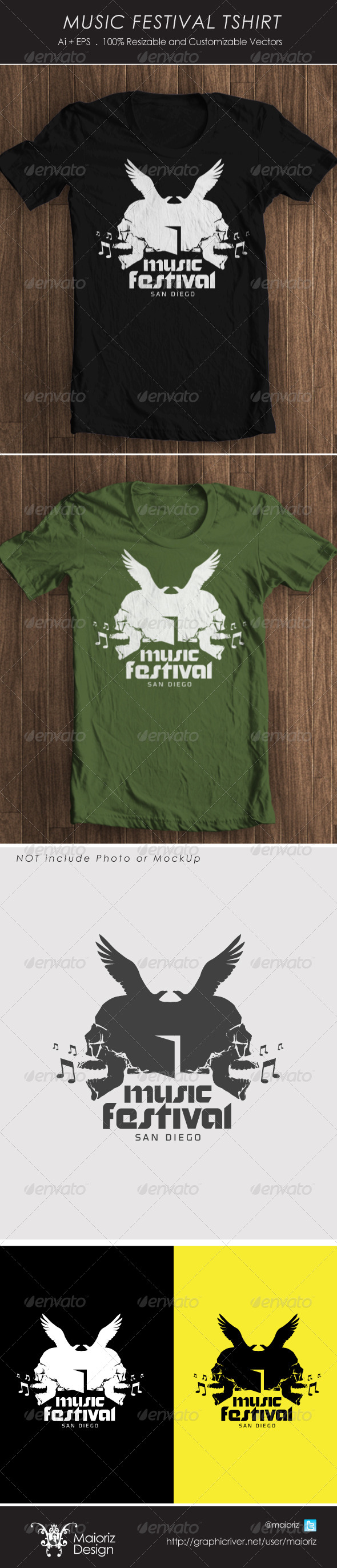 GraphicRiver Music Fest Tshirt 4252035