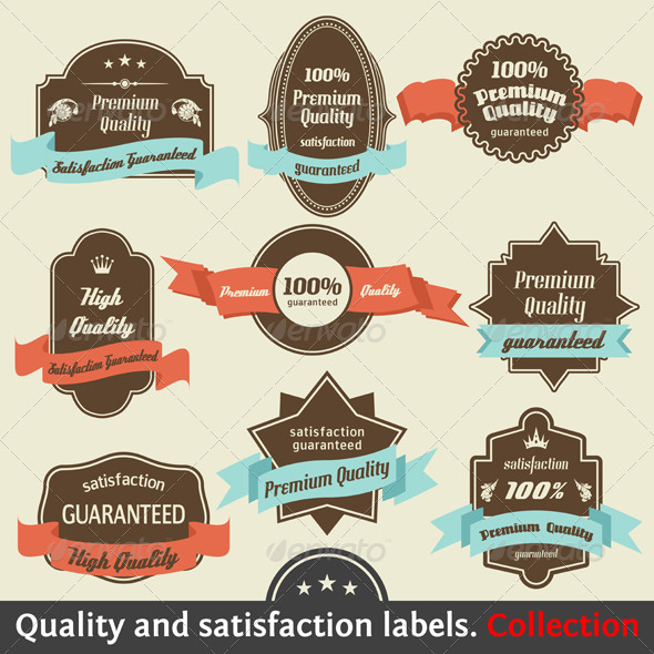 Vintage Premium Quality and Satisfaction Guarantee - Decorative Symbols Decorative