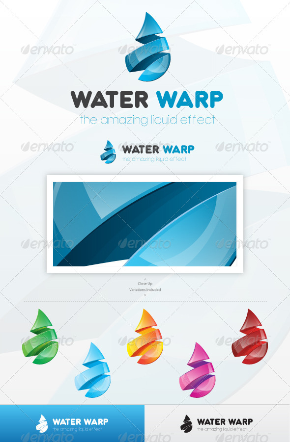 Water Warp Logo - Nature Logo Templates