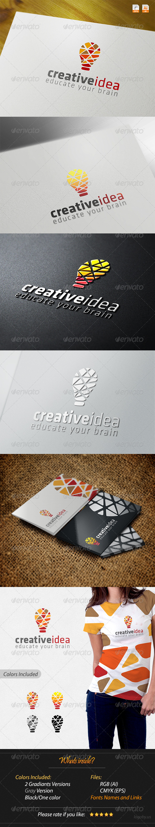 Creative Idea - Educate Your Brain - Abstract Logo Templates