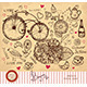 Hand Drawn Card with Paris Symbols - GraphicRiver Item for Sale