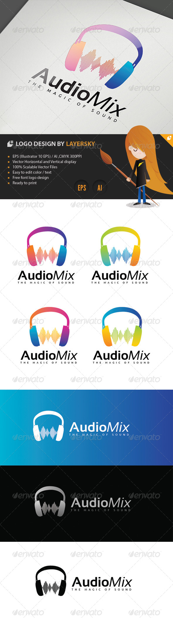 GraphicRiver Audio Mix Logo 4254029