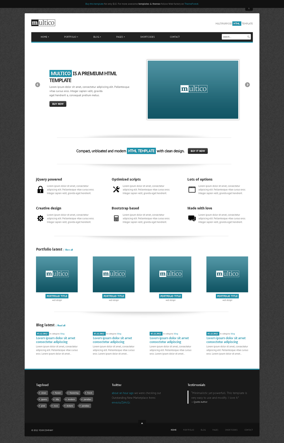 Multico - Premium Multipurpose Responsive Template - Multico - front page with parallax slider