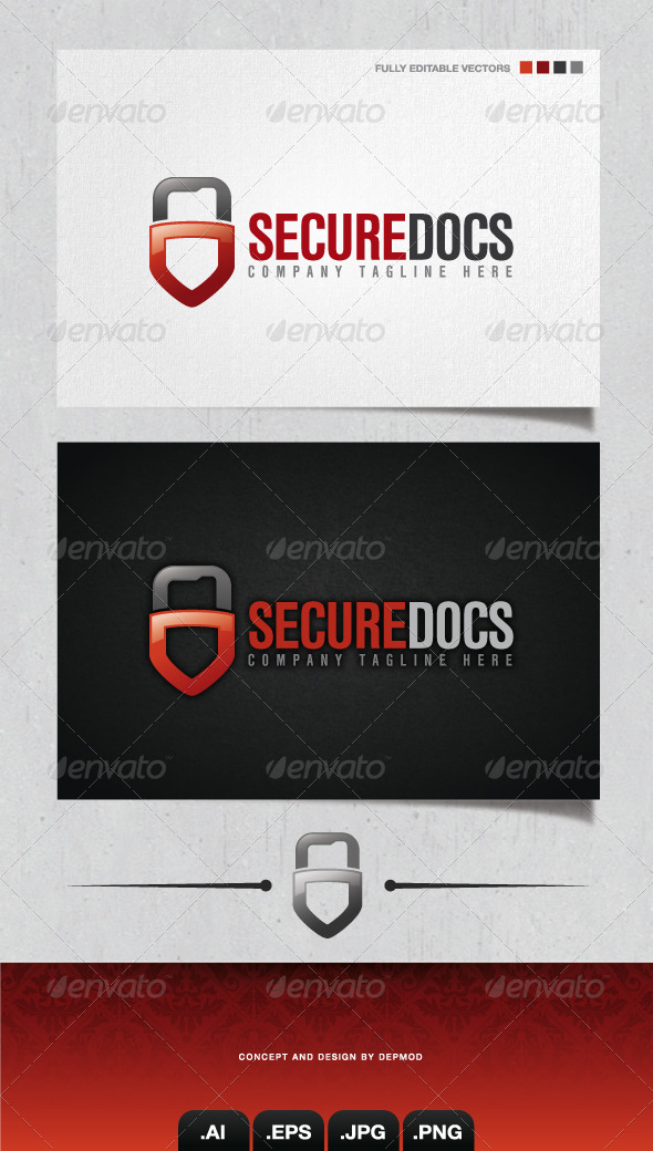 GraphicRiver Secure Docs Logo 4254894