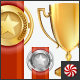 Vector Achievement Awards Set of Trophy and Ribbon - GraphicRiver Item for Sale