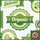 Natural, Organic, Eco, & Fair Trade Vector Labels - GraphicRiver Item for Sale