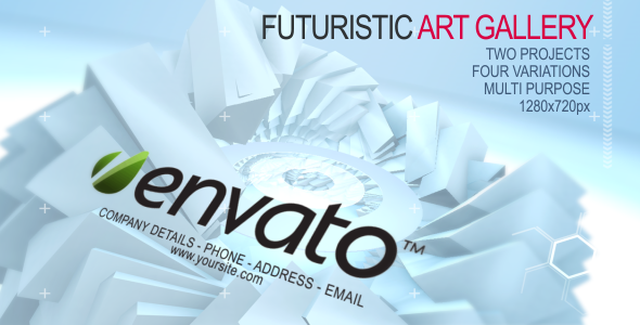 After Effects Project - VideoHive Futuristic Art Gallery 460412