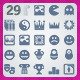 29 AI and PSD Culture strict Icons  - GraphicRiver Item for Sale