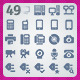 49 AI and PSD Devices strict Icons  - GraphicRiver Item for Sale