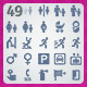 49 AI and PSD Navigation strict Icons  - GraphicRiver Item for Sale