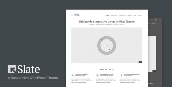 Slate Responsive WordPress Theme