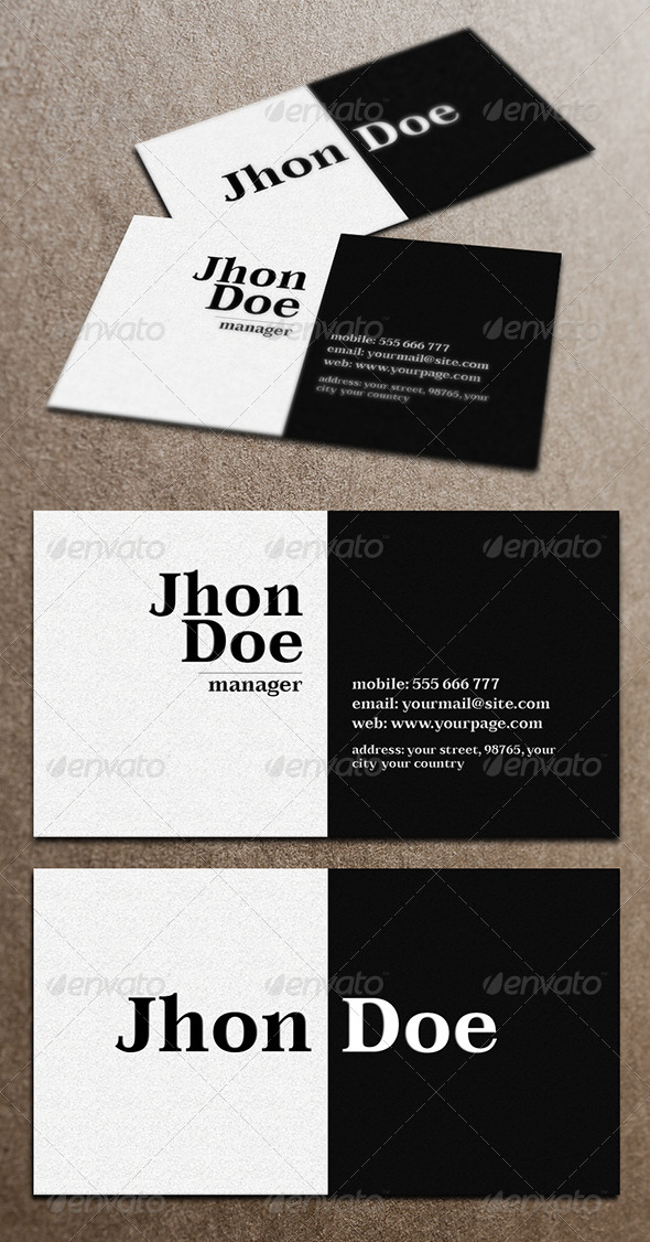 GraphicRiver Business Card 4058354