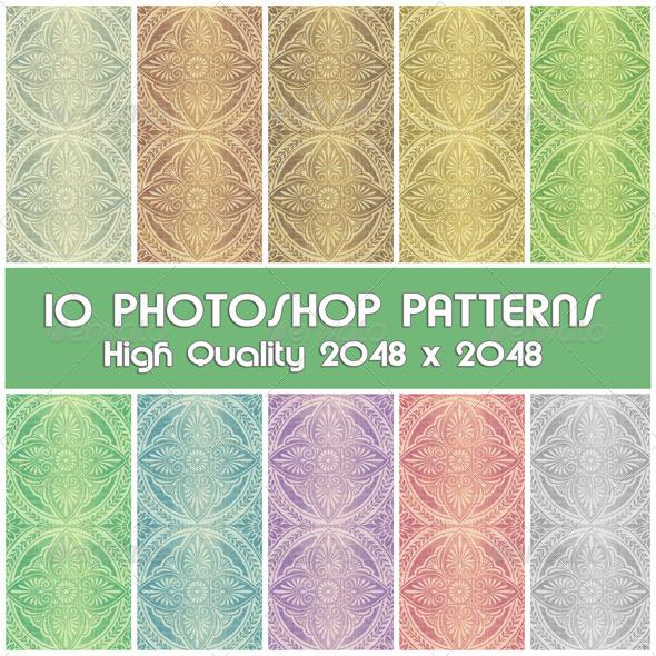 GraphicRiver 10 Photoshop Patterns Set 04 4258735