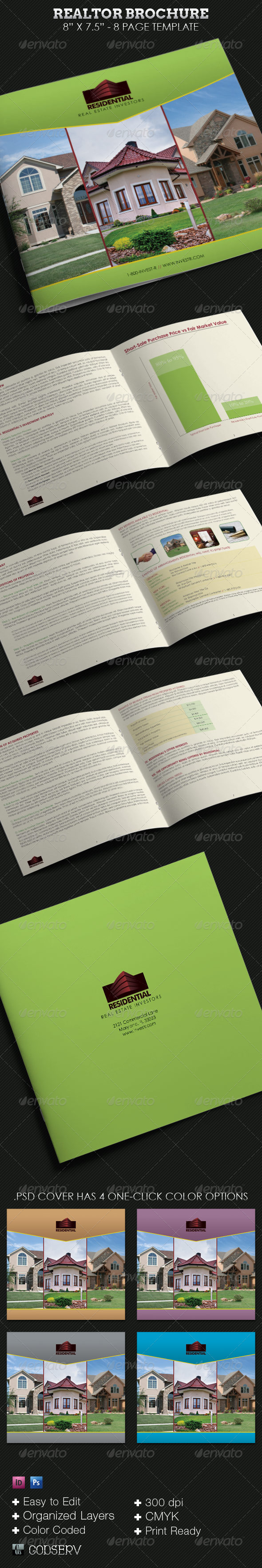 Realtor Square Brochure Template - Corporate Brochures