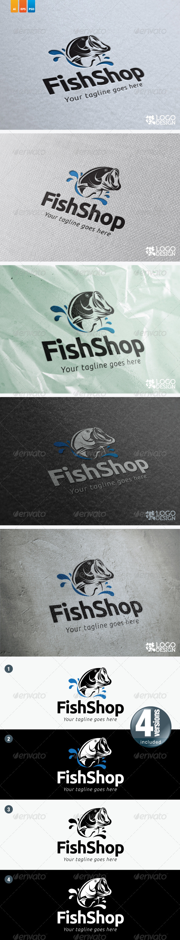 Fish Shop - Animals Logo Templates