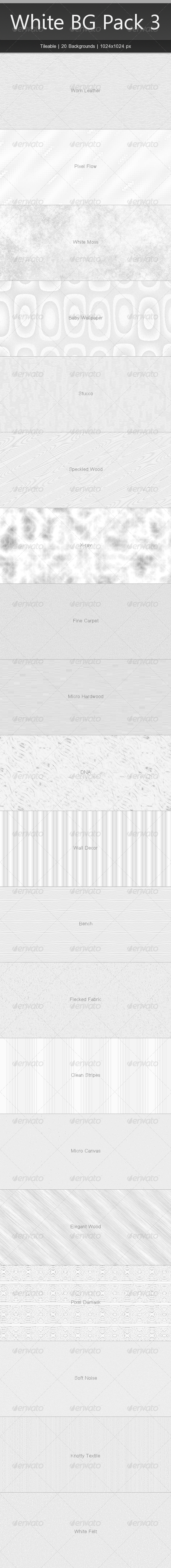 GraphicRiver Tileable White Background Pack 3 4261343