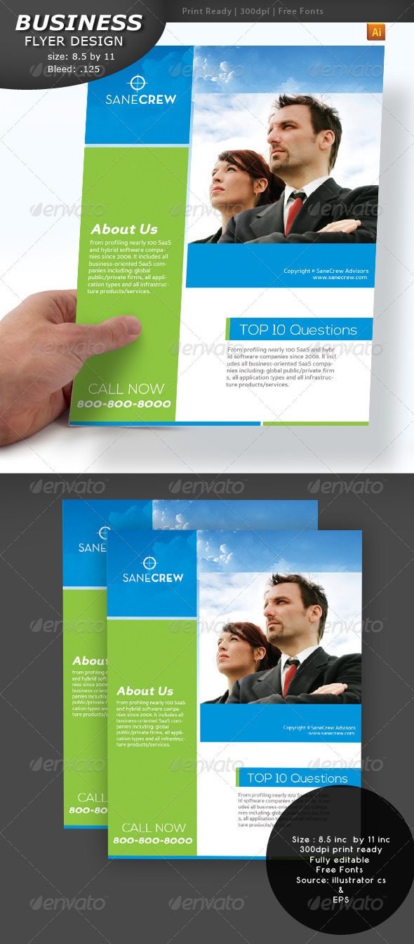 GraphicRiver Business Flyer 4071156