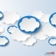 Abstract Speech Bubbles in the Shape of Clouds - GraphicRiver Item for Sale