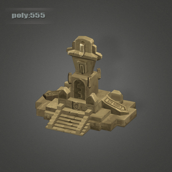 3DOcean Low Poly Dungeon Stone 4263101