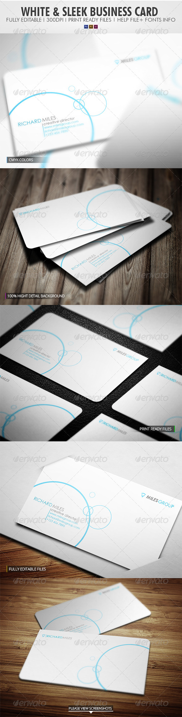 GraphicRiver White Sleek Business Card 4062861