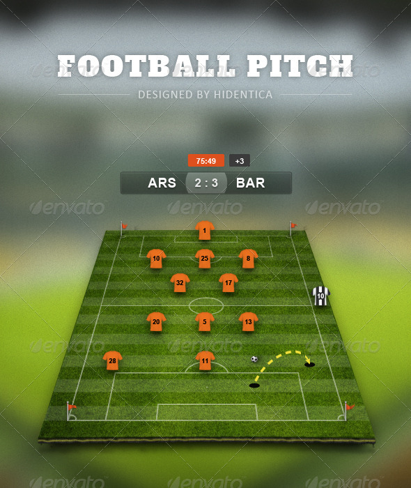 GraphicRiver Football Pitch PSD 4263219