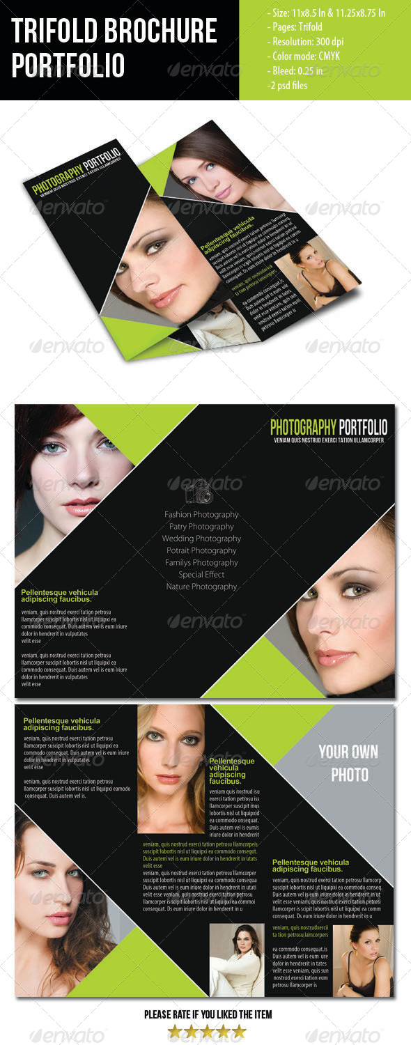 GraphicRiver Portfolio Trifold Brochure for Photographer 4068722