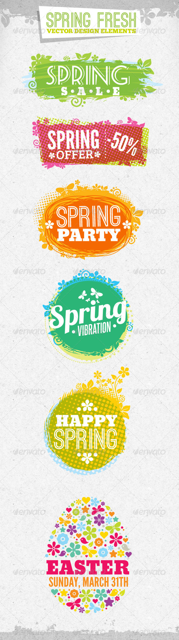 GraphicRiver Fresh Spring Design Elements 4263797