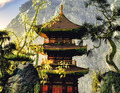 Buddhist temple in mountains - PhotoDune Item for Sale